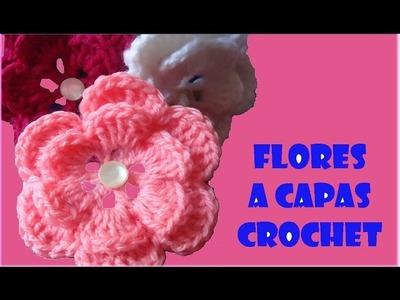 Tutorial Flor de dos Capas a Crochet o Ganchillo