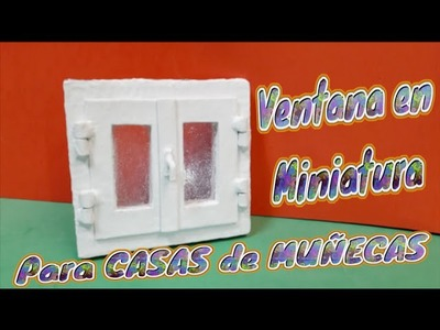 Ventana en Miniatura, para las casas de Muñecas, Diy