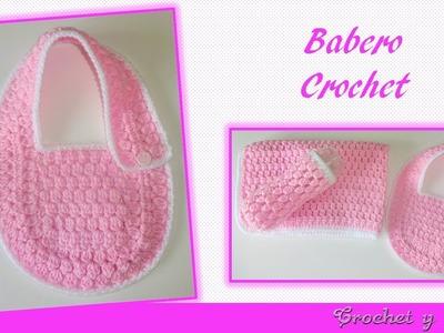Babero tejido a crochet (ganchillo) para bebés