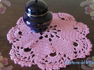 Centro de mesa o carpeta paso a paso a crochet