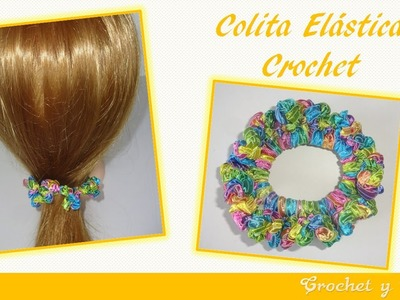 Colita - dona elástica crochet ganchillo para el cabello