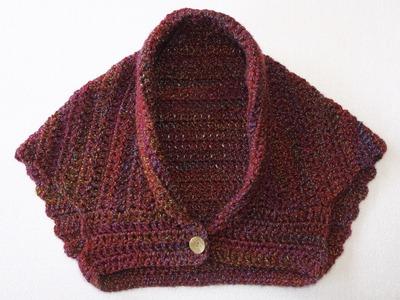 Como hacer bolero o chaquetita fácilmente a crochet.