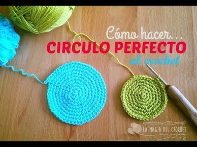 Cómo hacer un circulo perfecto al crochet.uncinetto.ganchillo.häkeln