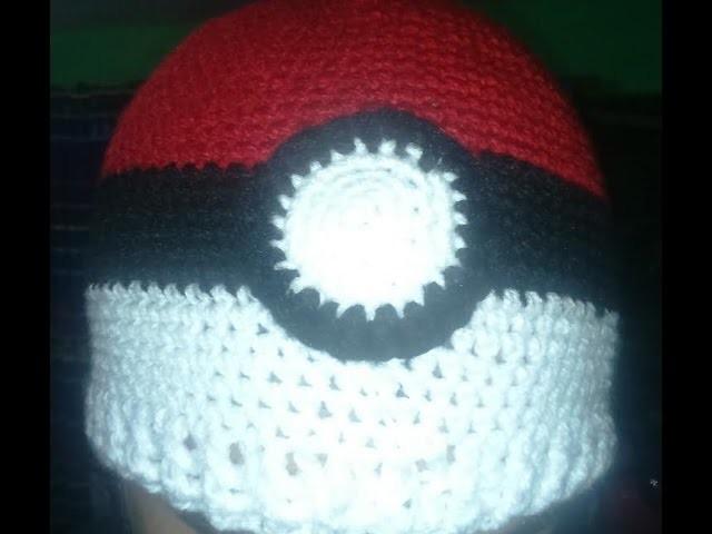 Gorrito de Pokebola Diy - Crochet