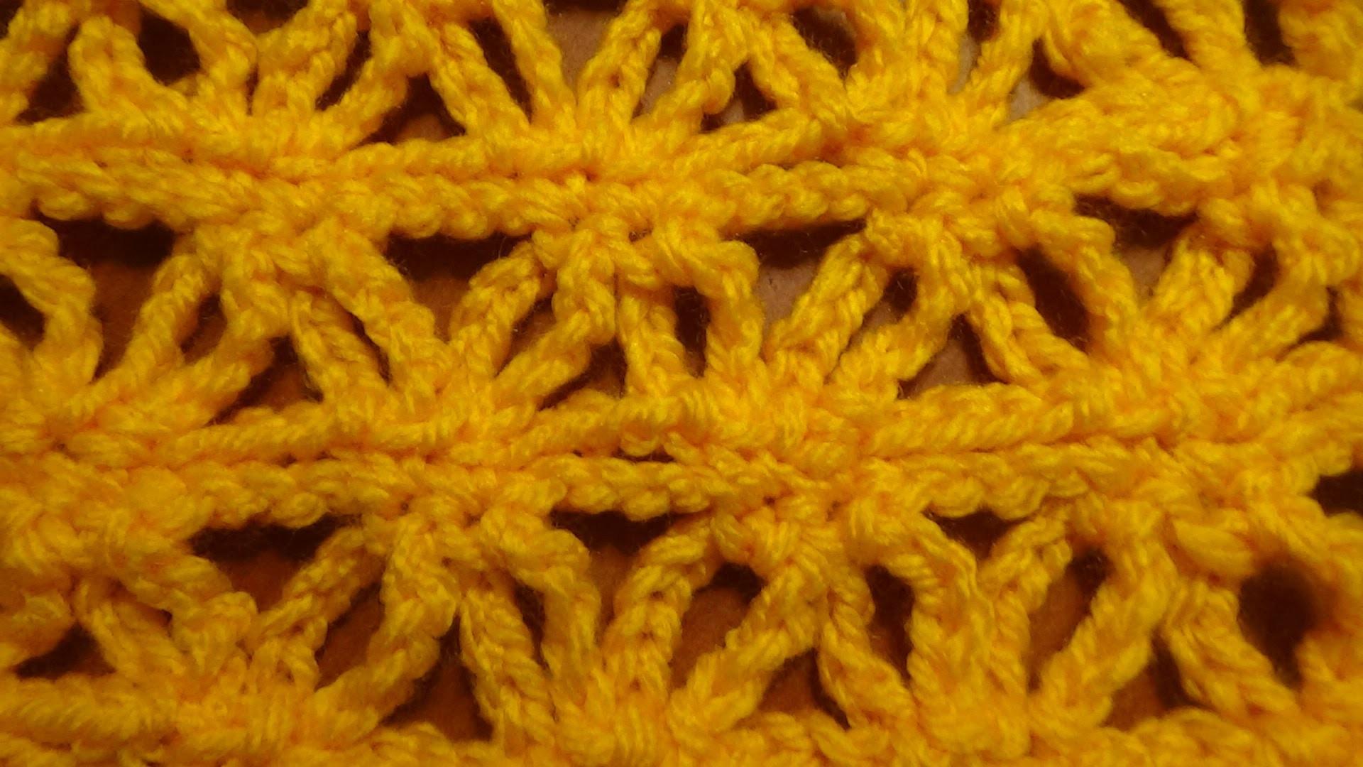 Puntada fàcil a crochet, solamente dos vueltas.