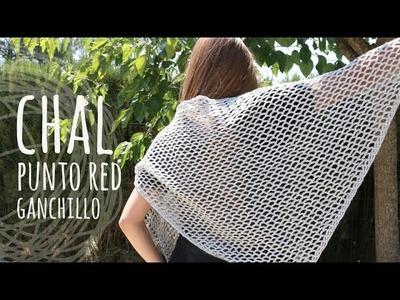Tutorial Chal muy Fácil Punto Calado Ganchillo | Crochet