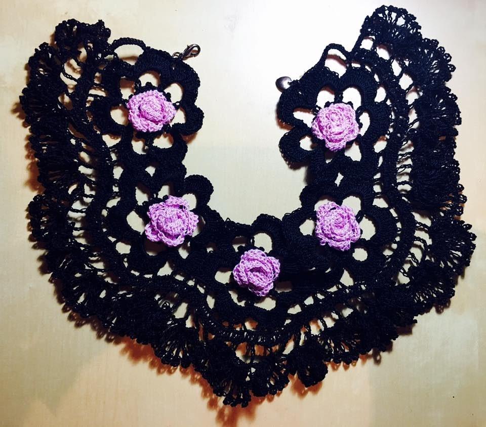 proveedor oficial varios colores calidad asombrosa Tutorial Collar-Gargantilla Tejido a Crochet Paso a paso ...