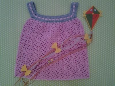 Vestido de verano para niña a crochet