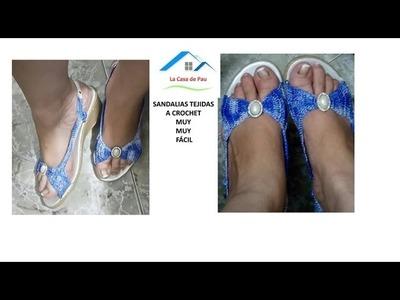 Zapatos tejidos, sandalias a Crochet