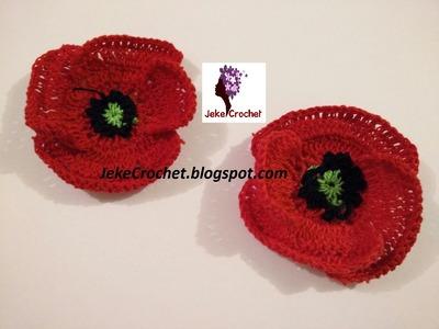 Amapola - Papavero - Poppy Flower (modelo 2) - Crochet- Ganchillo - Uncinetto. Paso a Paso