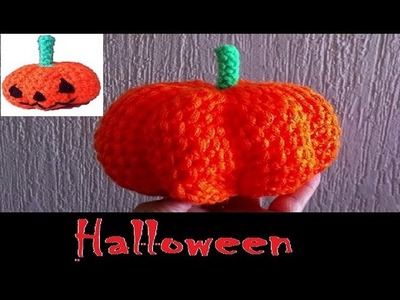 Calabaza en crochet fácil y rápido Halloween  parte 2 de 2. Pumpkin on Halloween ending