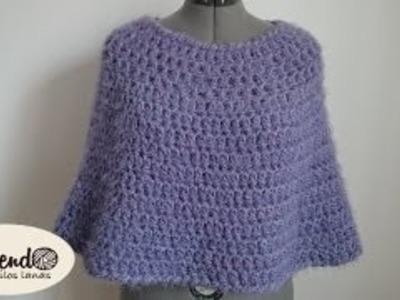 Capa fácil y elegante en crochet (ganchillo )