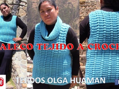 Chaleco Tejido a crochet -  TEJIDOS OLGA HUAMAN