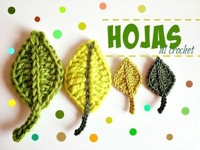 Cómo hacer hojas a crochet