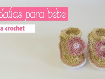 COMO TEJER SANDALIAS PARA BEBES DE 0 A 3 MESES. HOW TO CROCHET SANDALS FOR BABIES