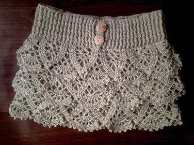 Falda volantes a crochet 1ª parte