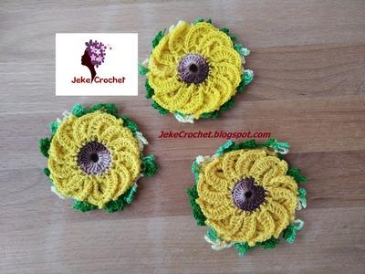 Girasoles a Crochet - Ganchillo