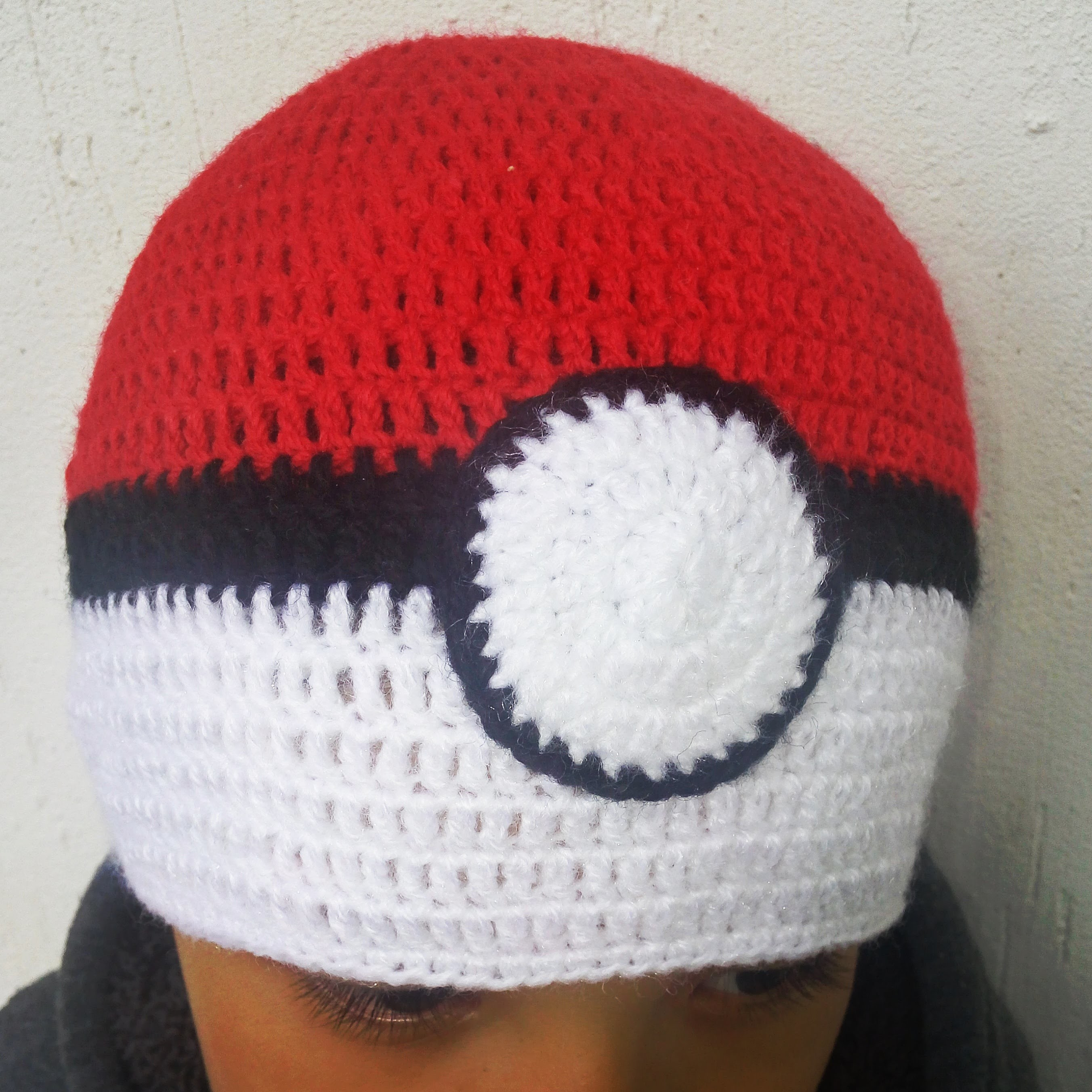 Crochet, Gorro pokeball a crochet, Gorro pokeball a crochet ...