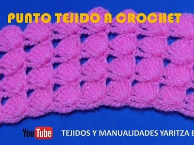 Punto tejido a crochet para colchas y cobijas de bebe