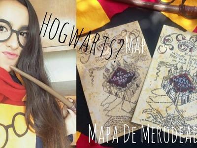 COMO DIBUJAR EL MAPA DEL MERODEADOR! PASO A PASO DIY +HARRY POTTER Map drawing!