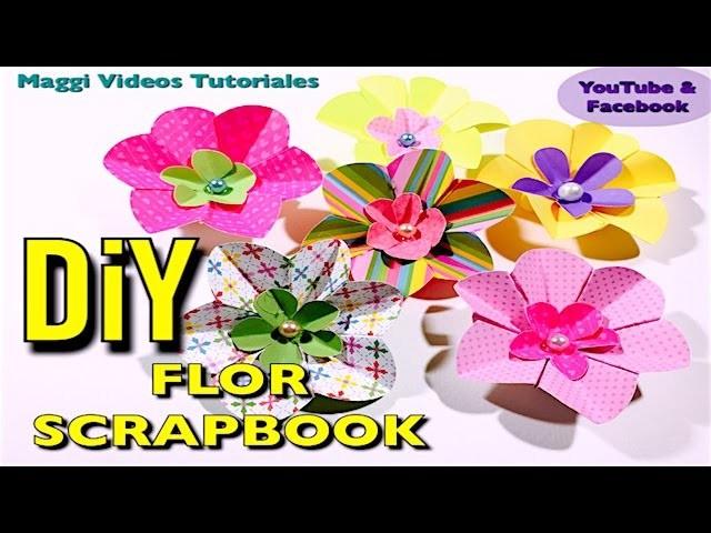 Como Hacer Flor Scrapbook
