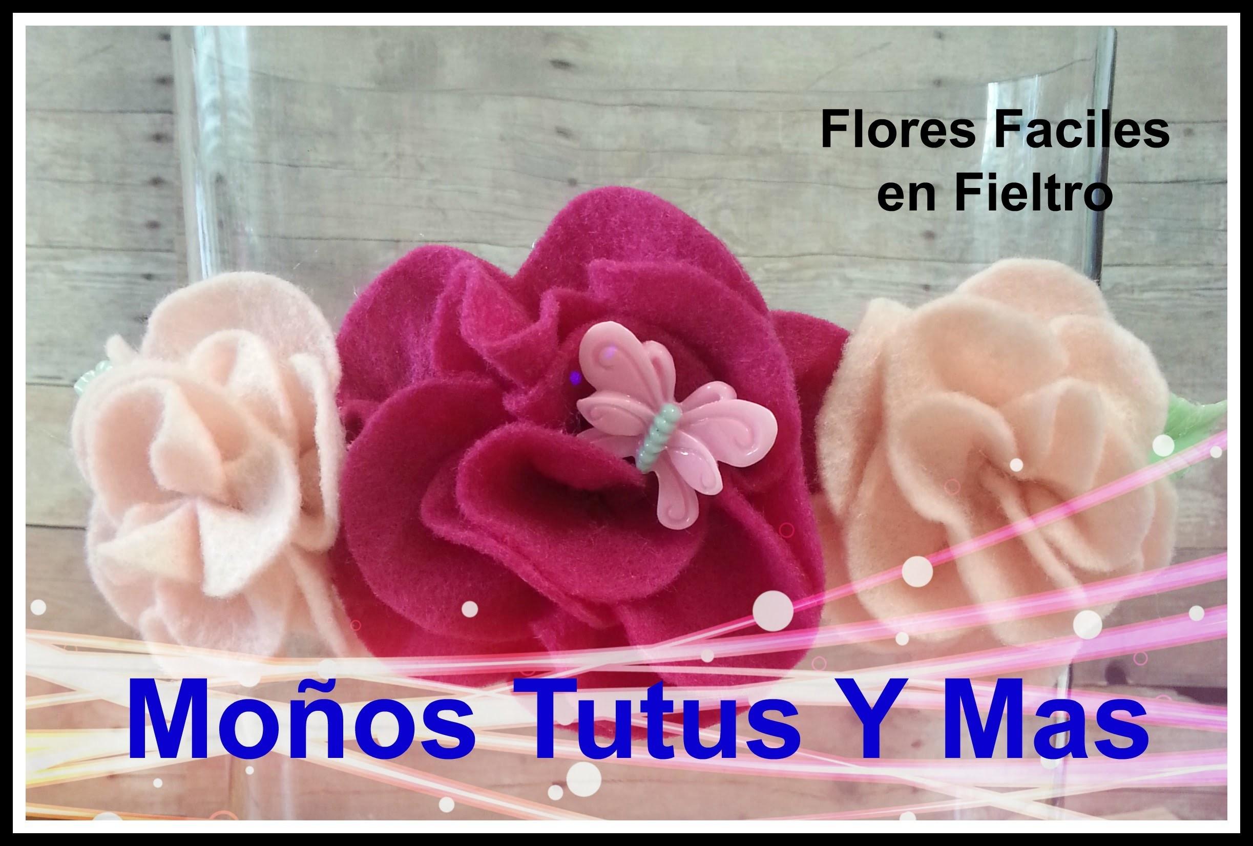 Como hacer flores en fieltro paso a paso how to make felt - Como hacer figuras de fieltro paso a paso ...