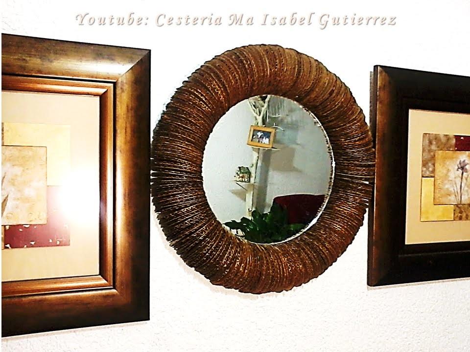 Como hacer un marco para espejo. DIY. How to make a frame for mirror