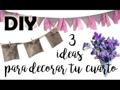 DIY ♥ 3 ideas para decorar tu cuarto con yute ♥ Decoración