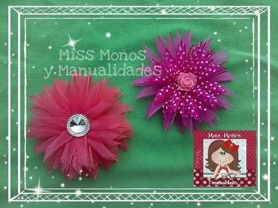 """DIY Flor de Organza """"Estrella"""""""