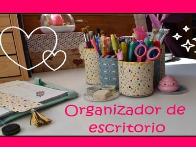 DIY:  organizador de escritorio con latas de Pringles!!. Serie vuelta al cole