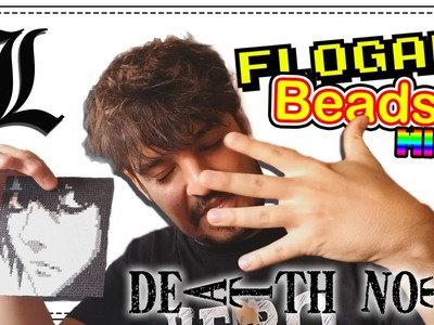 """L"" DEATH NOTE CON HAMA BEADS MINI - HAMA BEADS MINI #1 - DIY - FLOGAR BEADS TUTORIALES"