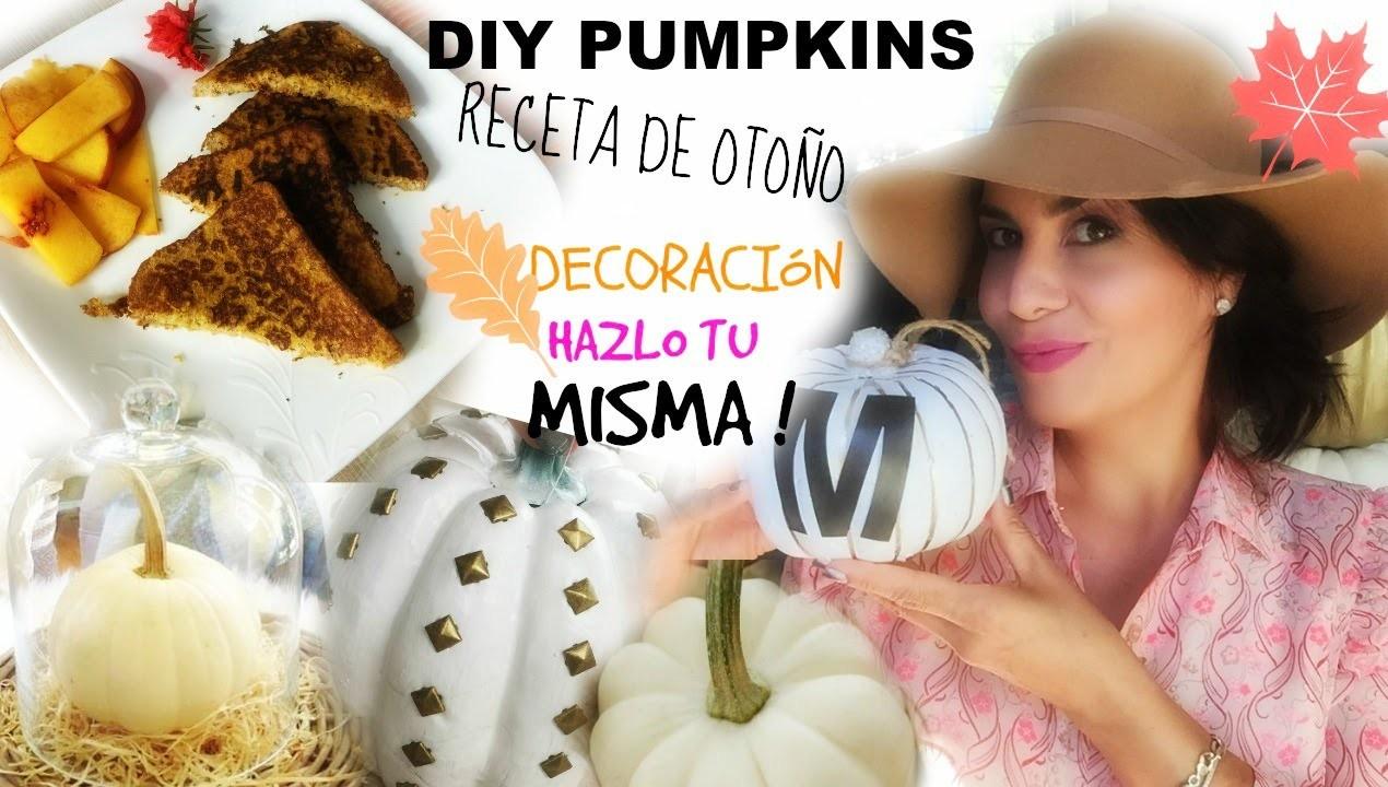MANUALIDADES CON  CALABAZAS - RECETA DE OTONO - DIY PUMPKINS #1