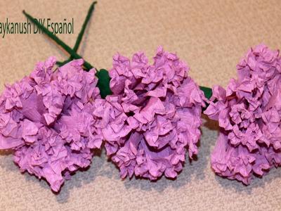 Como Hacer Flores de Papel Crepe Paso a Paso Haykanush DIY