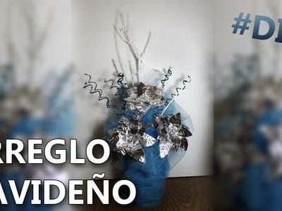COMO HACER UN ARREGLO NAVIDEÑO SENCILLO | Manualidades faciles para decorar
