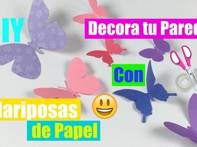 Decora tu Pared con Mariposas de Papel. (DIY) :)