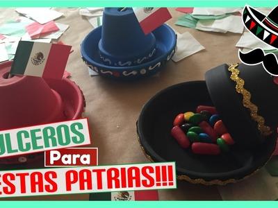 DIY Decoraciones.Dulceros para fiestas patrias!!! - Sombrero de mariachi!