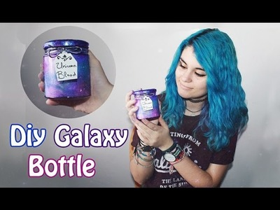 DIY galaxy bottle (Frasco galaxia. sangre de unicornio) | tumblr decor