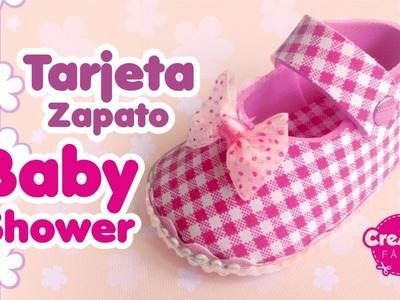 Tarjeta Baby Shower Zapato bebe - Recordatorio Fácil DIY