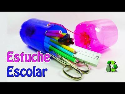 228. Manualidades: Estuche con botellas de plastico PET (Reciclaje) Ecobrisa