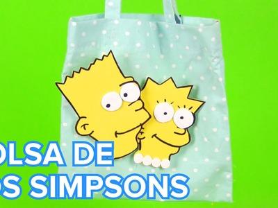 Bolsa para la merienda personalizada con Los Simpsons | Manualidades infantiles