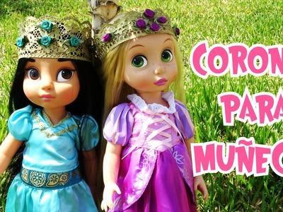 Como hacer Coronas para tus Muñecas Diy Manualidades