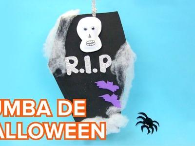 Cómo hacer una tumba de Halloween decorativa | Manualidades infantiles