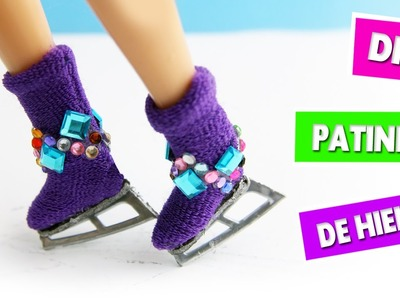 ⛸DIY | Como hacer patines de hielo - manualidades para muñecas - manualidadesconninos