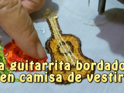 La guitarrita bordados en camisa de vestir |Creaciones y manualidades angeles