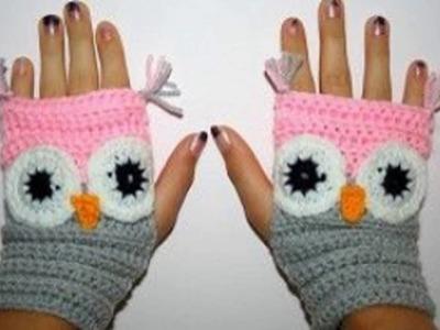Manualidades de hermosos guantes sin dedos