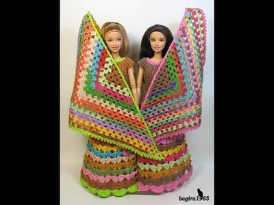 Chal para  barbie parte 1 principiantes del tejido