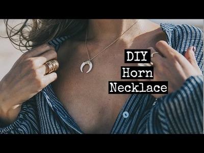 DIY Horn Necklace - María Pascual | Mónica Beneyto