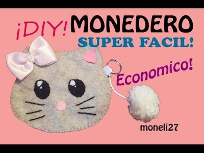 """""""DIY MONEDERO DE GATITO, SUPER FACIL Y ECONOMICO"""""""