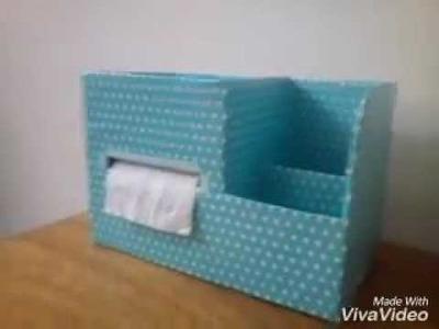 DIY Organizador para bebe de carton , kit de higiene , organizador de papelao ,organizador de papel
