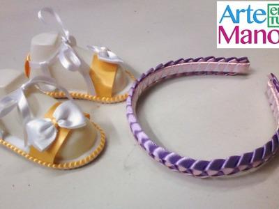 Trenzado o tejido en cinta paso a paso para diademas, sandalias, pulseras y mas